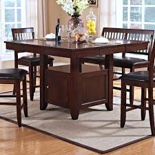 counter table with storage counter height table with storage pedestal base kaylee by new