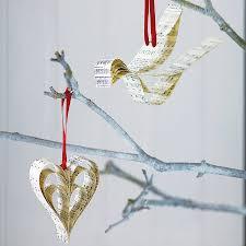 handmade sheet music christmas decoration sheet christmas