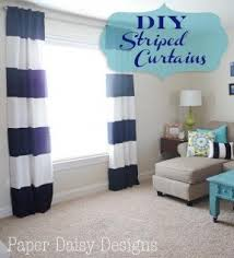 Purple And Cream Striped Curtains Wide Stripe Curtains Foter