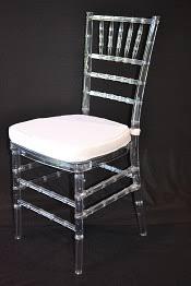 clear chiavari chairs clear resin chiavari chair with white cushion superior party rentals