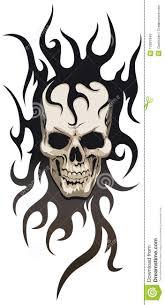 skull tribal stock vector illustration of skull 12697949