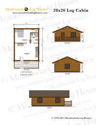 log lodge floor plans 20x26 log cabin meadowlark log homes