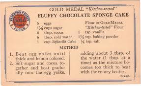 the found recipe box sharing the love fluffy chocolate sponge cake