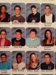 yearbook from my high school in high school my friend got two pictures in the yearbook by