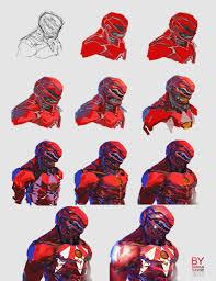 concept ranger artstation red ranger helmet concept