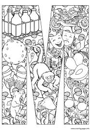 mouse and monkey coloring pages printable