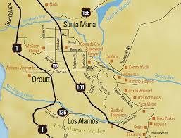 santa barbara california map santa barbara wine maps california winery advisor