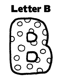 download letter b alphabet coloring pages free or print letter b