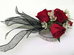 prom wrist corsage ideas wrist corsage for homecoming for black dress prom corsage