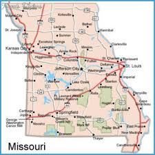 missouri map images st louis map tourist attractions travelsfinders