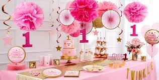 pink twinkle twinkle gender neutral 1st birthday party