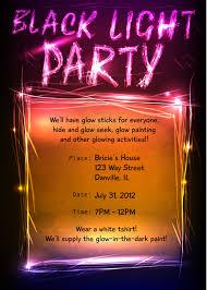 black light party invitations lilbibby com