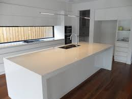 contemporary kitchen in white fixed window as a splash back sink