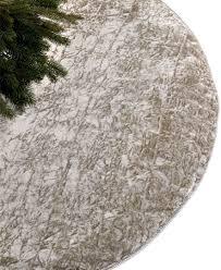 Simon Pearce Christmas Tree Dish by Holiday Lane Crushed Velvet Silver Tree Skirt Christmas