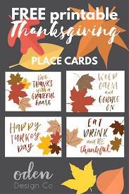 free printable thanksgiving place cards oden design co