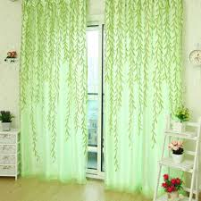 Green Sheer Curtains Sheer Curtains 1x2m Home Textile Tree Willow Curtains Blinds Voile