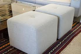 contemporary cube ottomans customize at five elements five