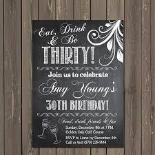 birthday invitation 30th birthday invitation chalkboard