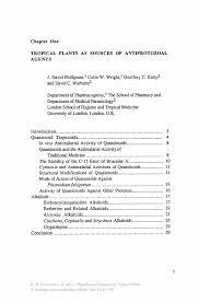 Medical Interpreter Resume Tropical Plants As Sources Of Antiprotozoal Agents Springer
