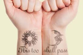 wonderful sun wrist tattoos