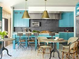 cuisine turquoise bleu turquoise et gris en 30 idées de peinture et décoration