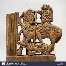 element window decor egyptian god horus in roman horseman slaying