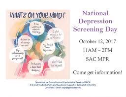 national depression screening day my gallaudet