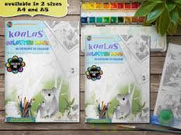 koalas colouring pages book engaged in art
