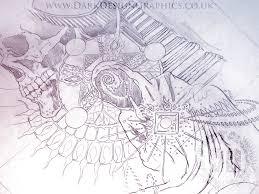 a visionary surrealism tattoo design dark design graphics