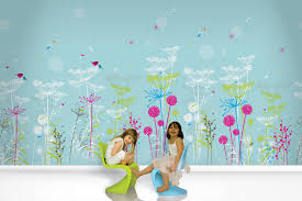 Kid Room Decoration by Bedroom Colorful Kids Room Design With Prairie Mural Wallpaper