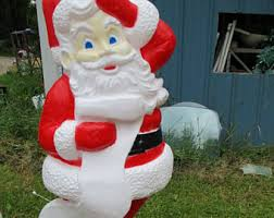Blow Mold Christmas Decorations Australia by Santa Blow Mold Etsy