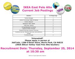 Ikea Services Ikea Is Hiring Apply At Jobtrain On Thursday Sept 25 Jobtrain