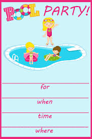 pool invitations splash it up pool invitations