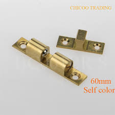 self color 60mm brass double ball catch cabinet door latch