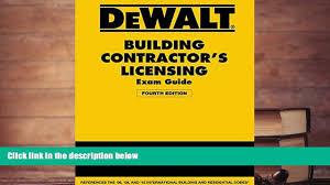 audiobook dewalt building contractor s licensing exam guide based
