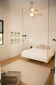 chain hanging bed transitional bedroom
