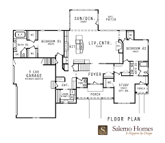 ranch plans with open floor plan floor plans of custom build homes from salerno homes llc