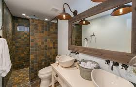 Country Style Bathroom Tiles Mosaic Slate Tile Trendy Option For Your Bathroom Flooring