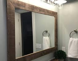 Rustic Vanity Mirrors For Bathroom - bathroom mirror etsy