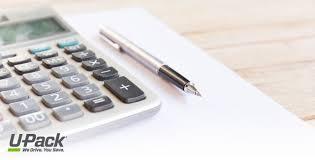 moving cost calculator u pack