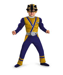 Samurai Halloween Costume Power Ranger Samurai Gold Ranger Muscle Kids Costume Superhero