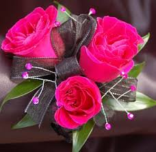pink corsage hot pink sweetheart corsage ht pink