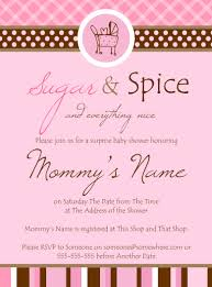 Baby Shower Invited Sugar And Spice Baby Shower Invites Invitations Ideas