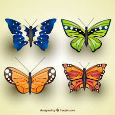 pack of butterflies with great designs vector free