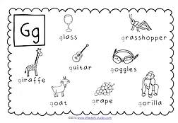 preschool letter g activities and worksheets little dots