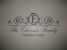 monogram with family name year established wall decal vinyl wall