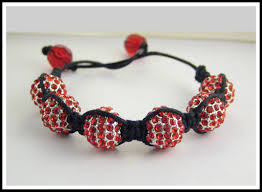 crystal shamballa bracelet images Bracelets jewelry red disco ball hip hop swarovski crystal bead jpg