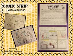 comic strip book response language arts learning and art lessons