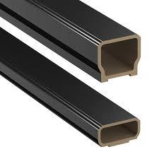shop deckorators 72 in black composite deck railing kit at lowes com