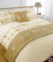 duvet quilt bedding bed in a bag gold single double king kingsize